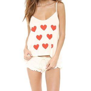 Wildfox baby fall in love pajama set